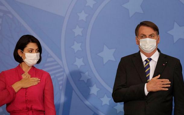 La primera dama de Brasil da positivo para coronavirus