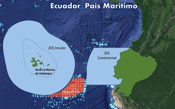 Ecuador advierte que hará respetar su soberanía marítima