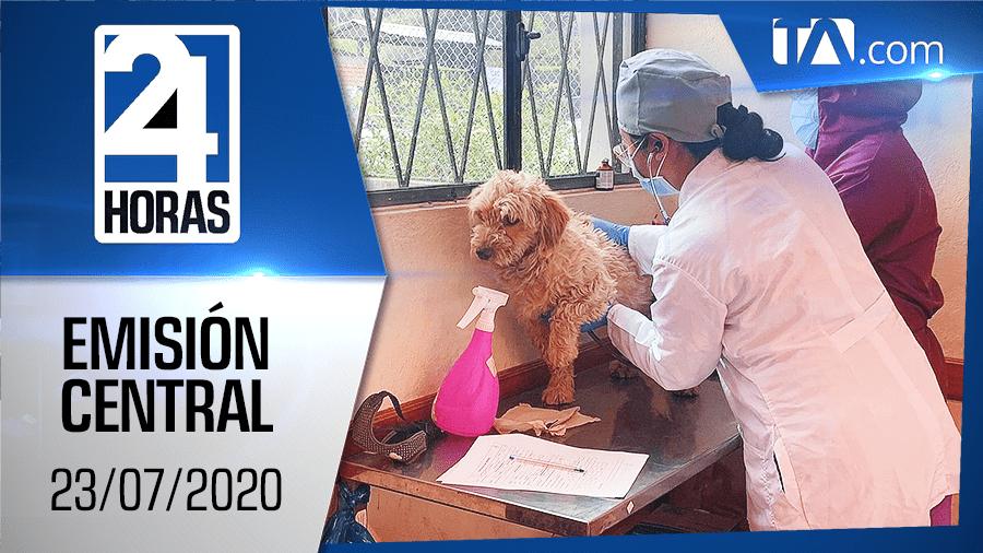 Noticiero 24 Horas, 23/07/2020 (Emisión Central)