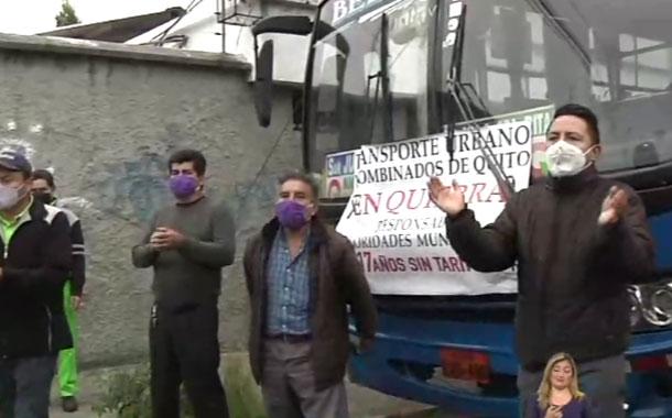 Transportistas de Quito anuncian movilización  pacífica