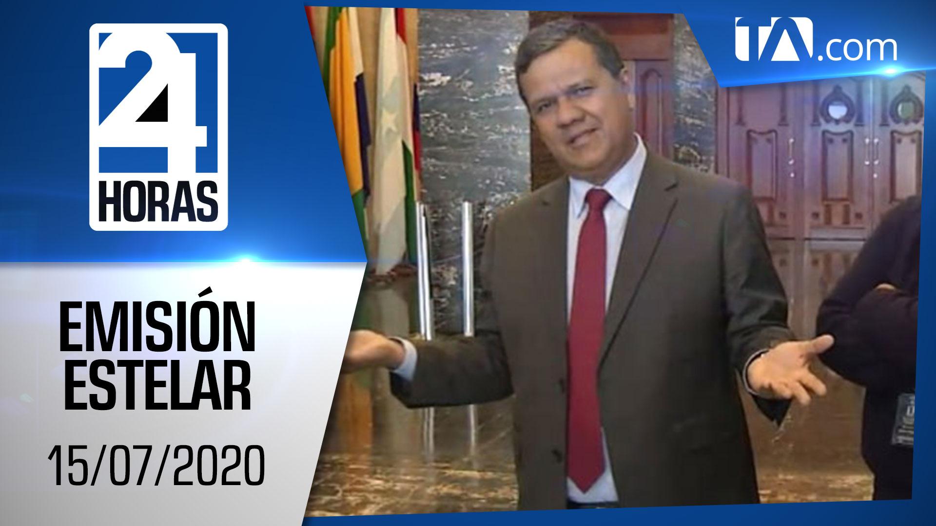 Noticias Ecuador: Noticiero 24 Horas, 15/07/2020 (Emisión Estelar)