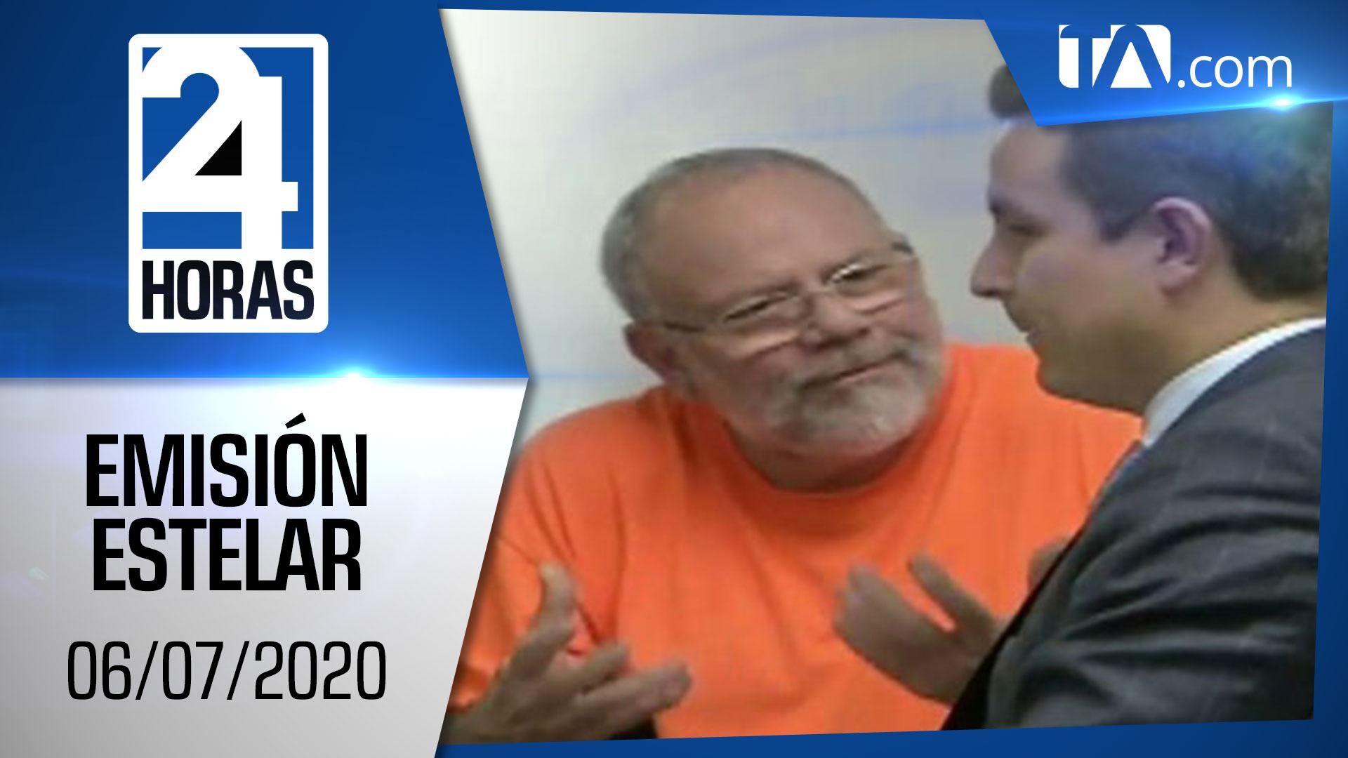 Noticias Ecuador: Noticiero 24 Horas, 06/07/2020 (Emisión Estelar)