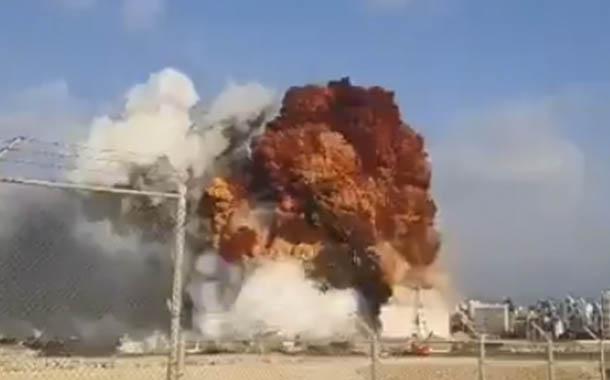 Potente explosión en Beirut