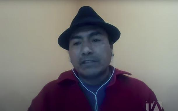 Leonidas Iza comenta sobre los precandidatos presidenciales indígenas