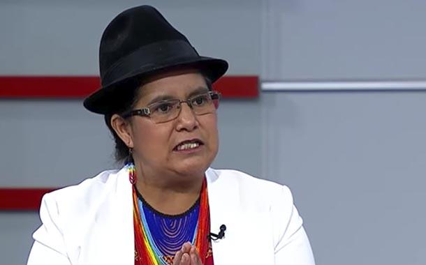 Lourdes Tibán analiza la candidatura presidencial de representante indígena
