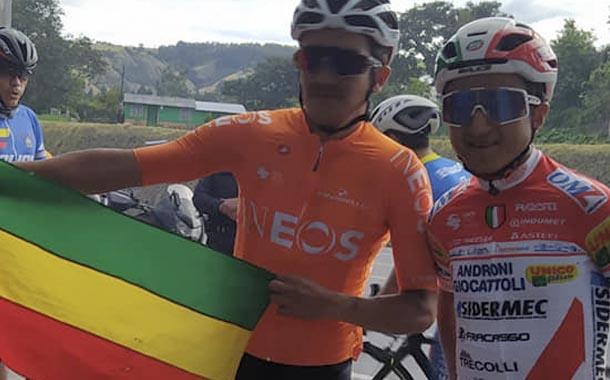Richard Carapaz y Alexander Cepeda listos para el Giro dell'Emilia