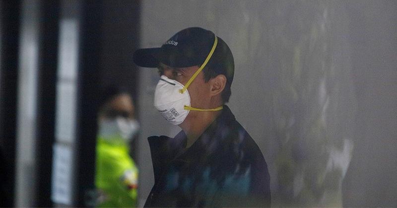 Daniel Mendoza se presentó en el laboratorio de criminalística