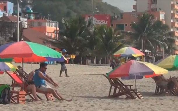 Poca afluencia de turistas en Atacames