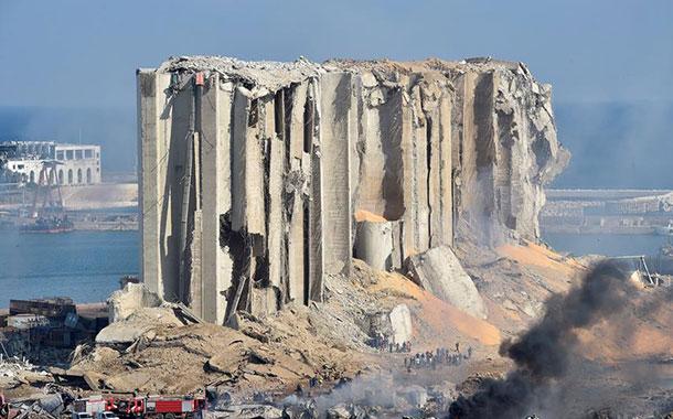 Así quedó Beirut tras la devastadora explosión que deja más de 100 muertos