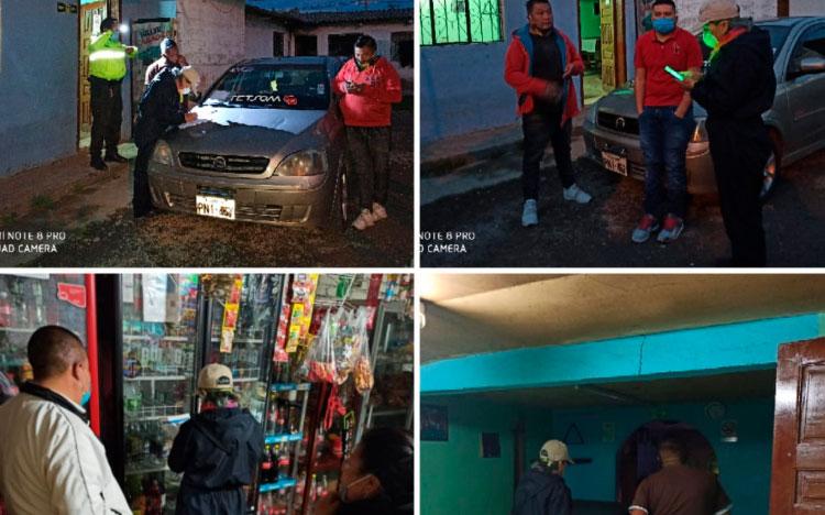 Personas sancionadas y vehículos retenidos  en Carchi