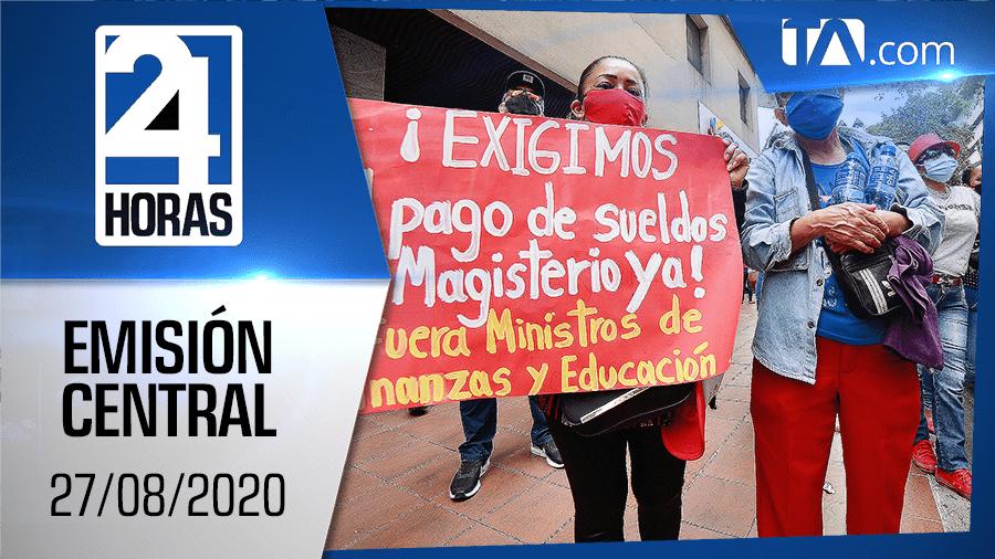 Noticiero 24 Horas, 27/08/2020 (Emisión Central)