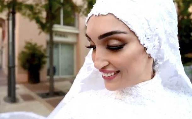 Explosión de Beirut interrumpió sesión de fotos de novia