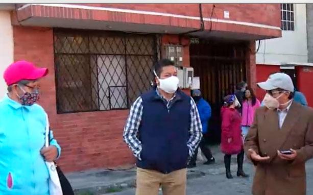 Gerente del Metro recorrió Solanda para constatar daños en las viviendas