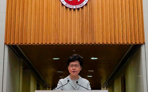 Imponen sanciones a jefa ejecutiva de Hong Kong