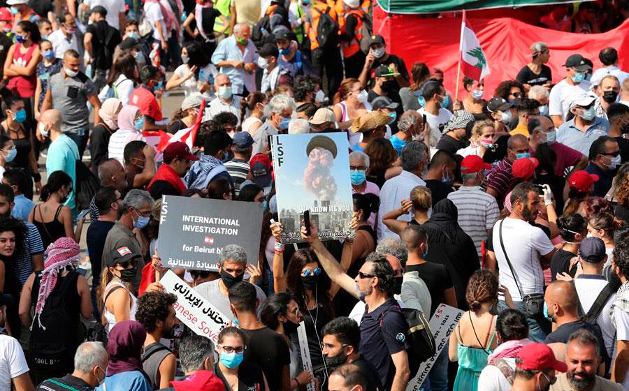 Choques entre manifestantes y Policía por tercer día en el centro de Beirut