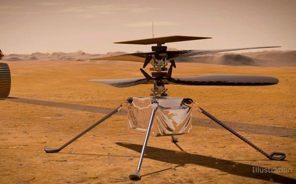 NASA recarga baterías de dron que volará en Marte