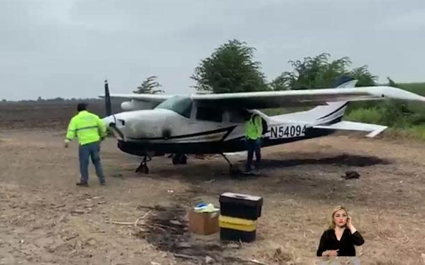 Avioneta aterrizó con placas adulteradas en el sector en el cantón Milagro