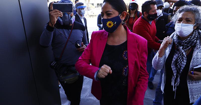 Juez de Pichincha llama a juicio a Paola Pabón por el delito de rebelión