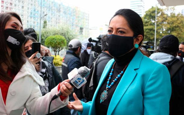Fiscalía acusa a Paola Pabón y dos personas más del delito de rebelión