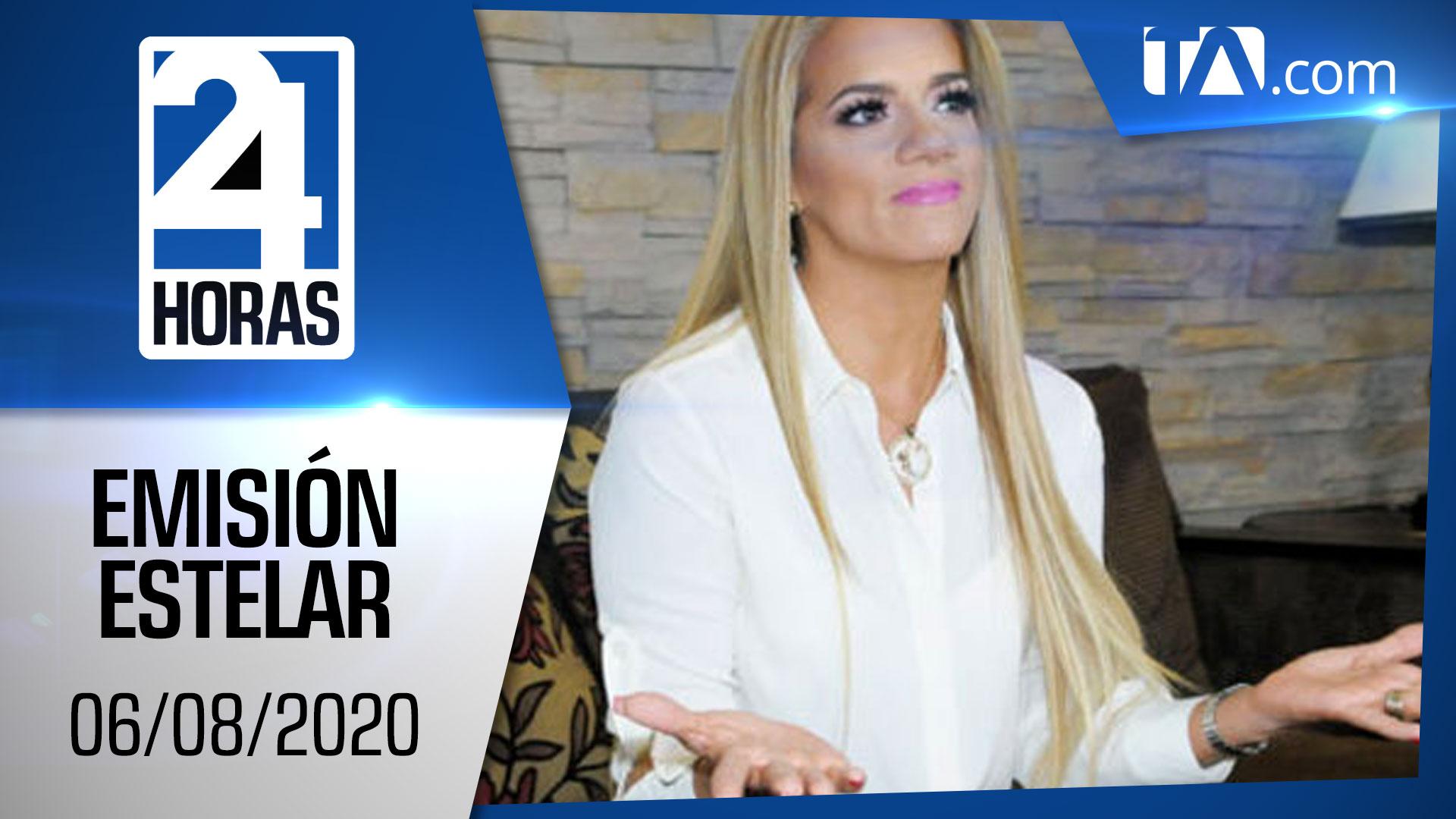 Noticias Ecuador: Noticiero 24 Horas, 06/08/2020 (Emisión Estelar)