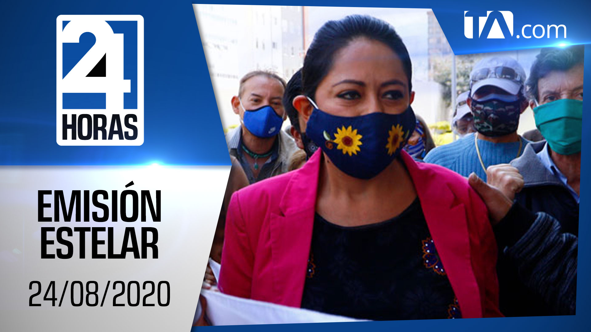 Noticias Ecuador: Noticiero 24 Horas, 24/08/2020 (Emisión Estelar)