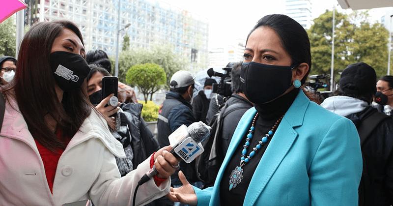 Fiscalía acusa a prefecta Pabón y dos personas más como autores de rebelión