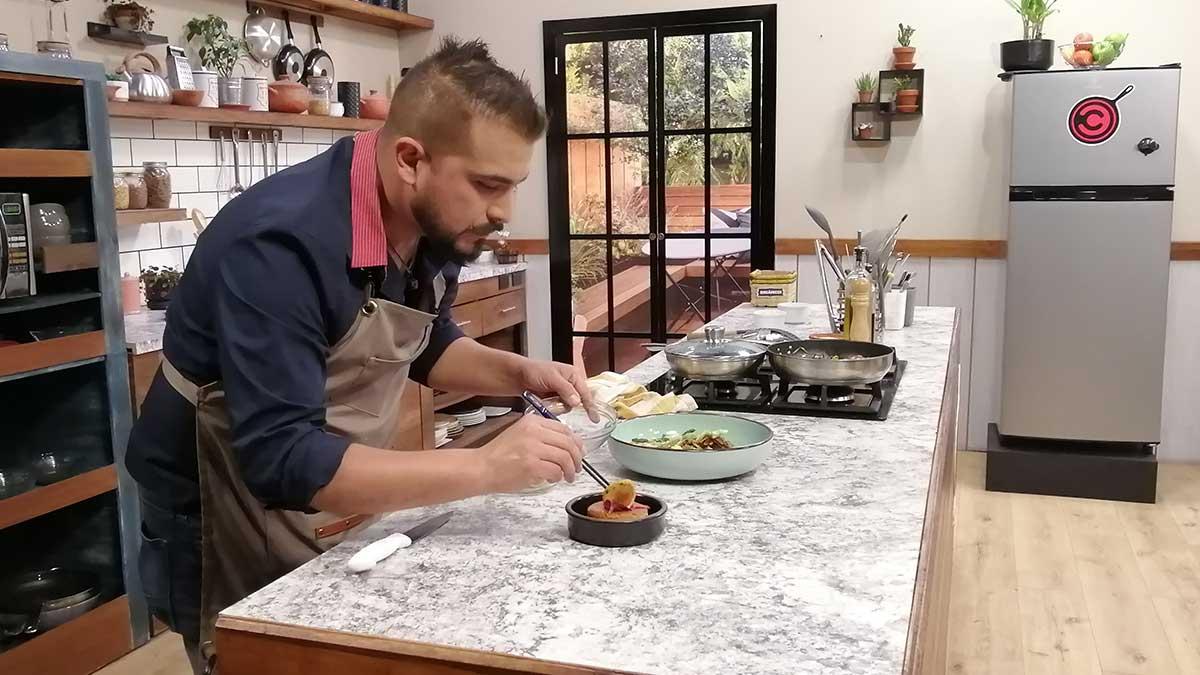 La Cocina del Chef: Pato gastric con tamarindo, pastel con gelatina, ensalada de arroz calabaza y remolacha