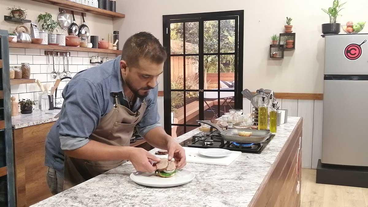 La cocina del chef: Roast beef, masa para pan y rollos de canela, rollos de canela