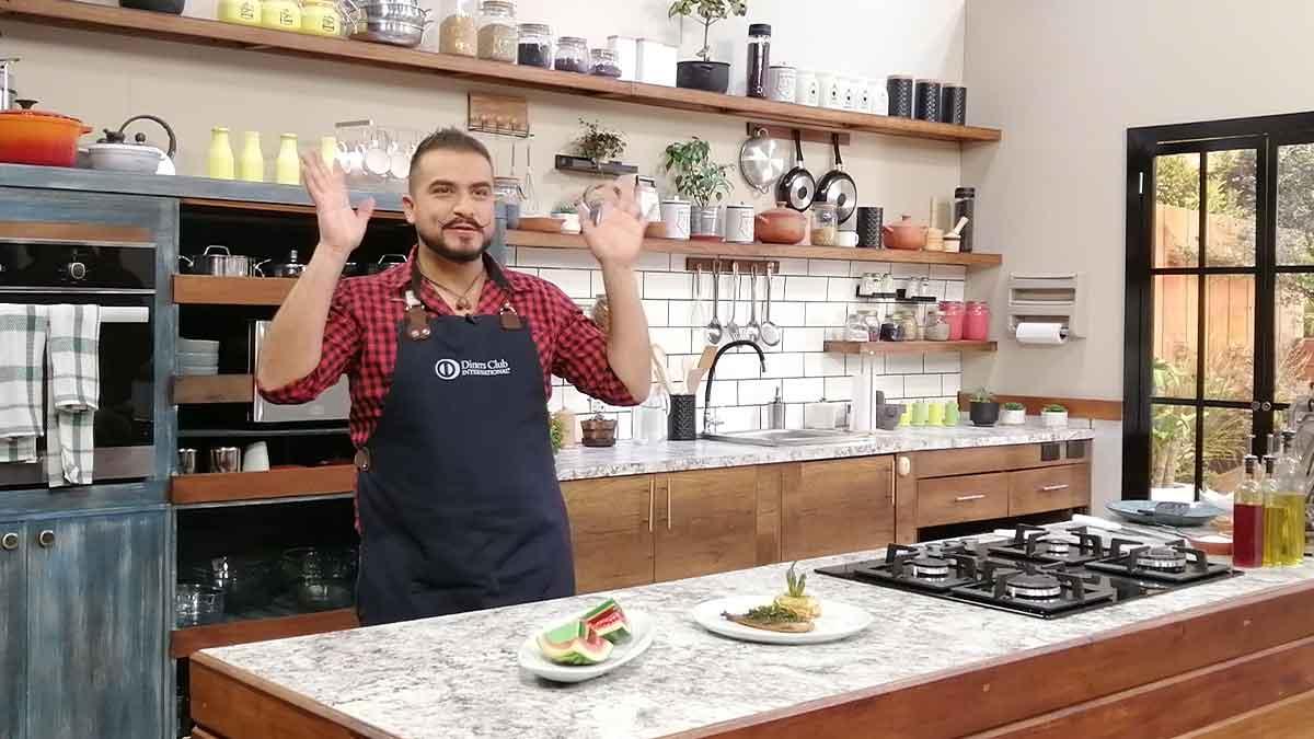 La Cocina del Chef: filete de pescado con aceite de cedrón, milhoja de tubérculos, sandía arcoiris de gelatina