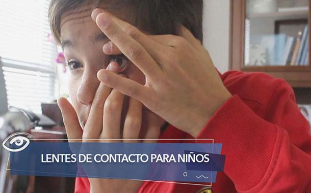 Lentes de contacto para niños