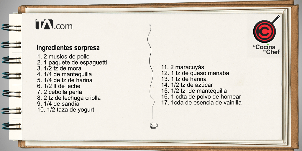 ingredientes sorpresa