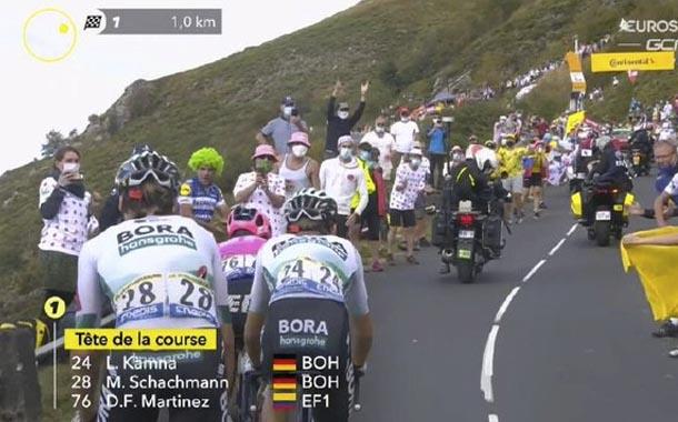 El colombiano Martínez gana  una durísima etapa 13 del Tour de Francia