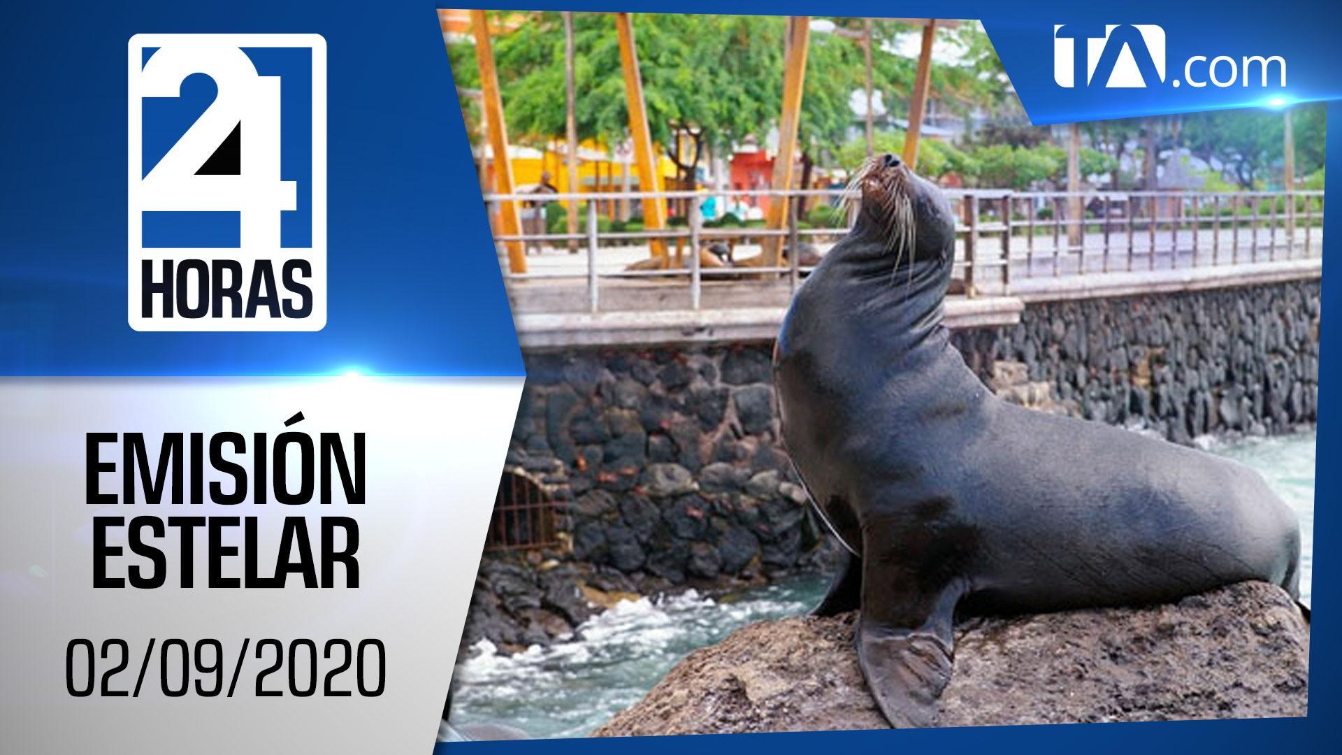 Noticias Ecuador: Noticiero 24 Horas, 02/09/2020 (Emisión Estelar)