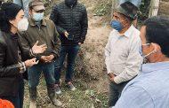 Vicepresidenta recorre zonas afectadas por la ceniza del volcán Sangay