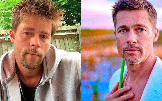 Albañil se hizo famoso por su parecido con Brad Pitt