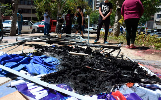 Denuncian actos violentos en la campaña electoral en Bolivia