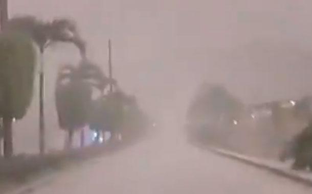 Impactantes imágenes de la caída de ceniza del volcán Sangay