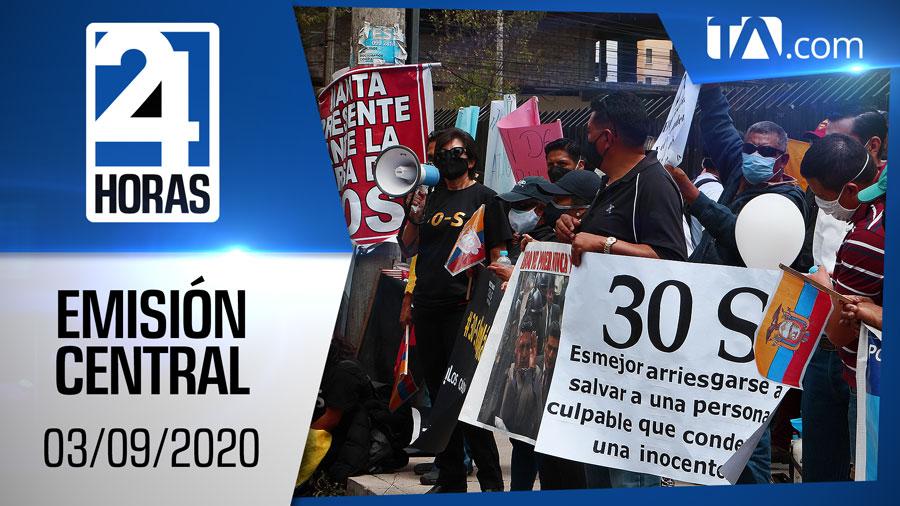 Noticiero 24 Horas, 03/09/2020 (Emisión Central)