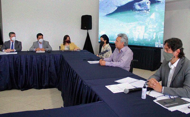 Presidente Lenín Moreno se reunió representantes de Galápagos