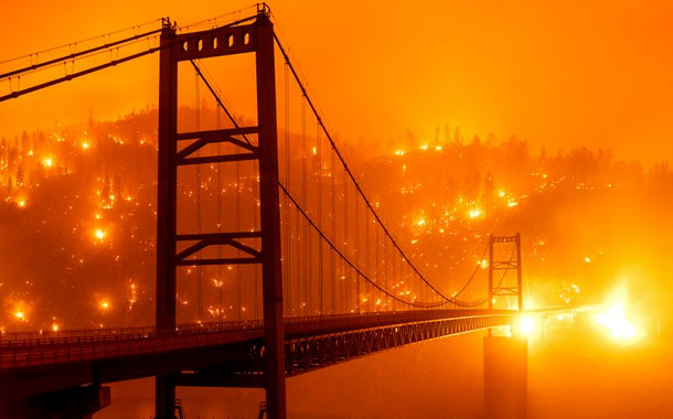 Humo de incendios en EEUU llega a Europa