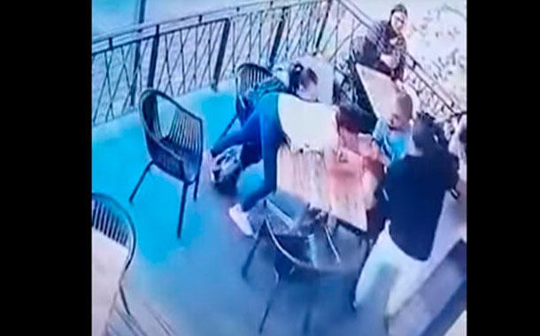 Dramático momento en que intentan secuestrar a una niña de 4 años