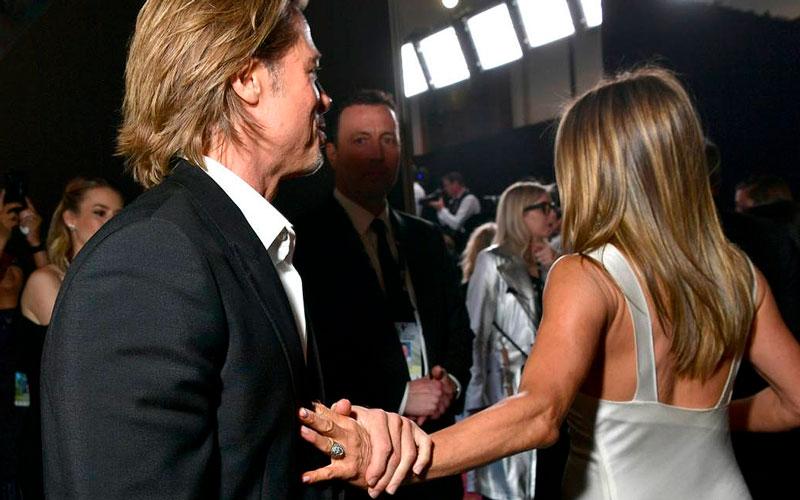 Jennifer Aniston y Brad Pitt se reencuentran en divertida videollamada
