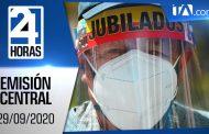 Noticiero 24 Horas, 29/09/2020 (Emisión Central)