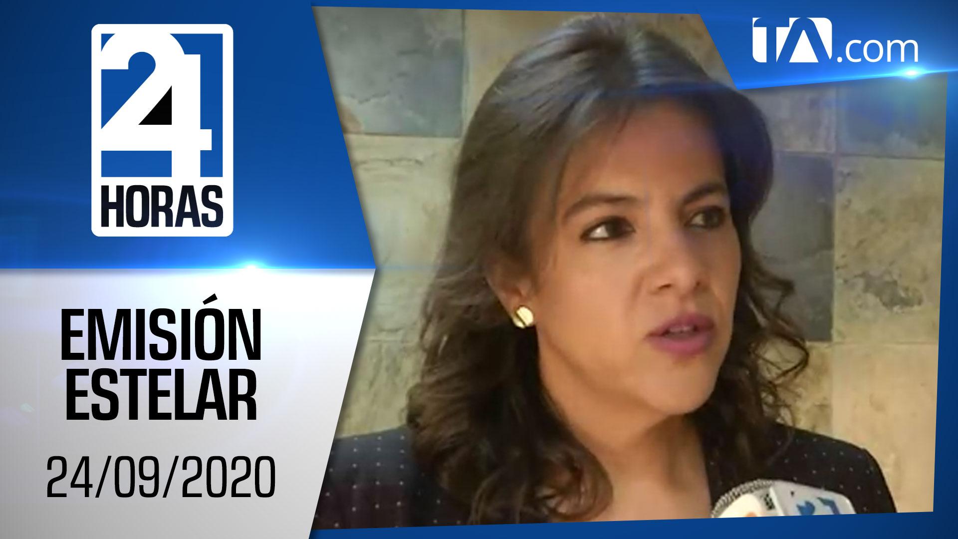 Noticias Ecuador: Noticiero 24 Horas, 24/09/2020 (Emisión Estelar)