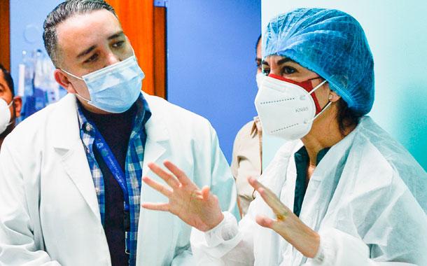 Número de pacientes con síntomas COVID-19  disminuye en los hospitales