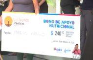 7 .992 familias vulnerables reciben bono económico de 240 dólares