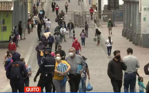 Por la mañana el ambiente en Quito fue normal el jueves