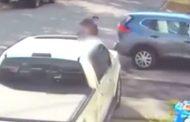 Un hombre captura a una niña después de que se bajara del bus escolar