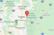 Reportan movimiento sísmico en Tungurahua