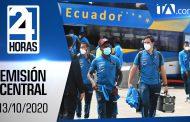 Noticiero 24 Horas, 13/10/2020 (Emisión Central)